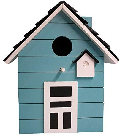 Home Collection Home Furnishing Accessories Decoration Garden Home Nest for Birds Birdhouse H 20 cm Turquoise