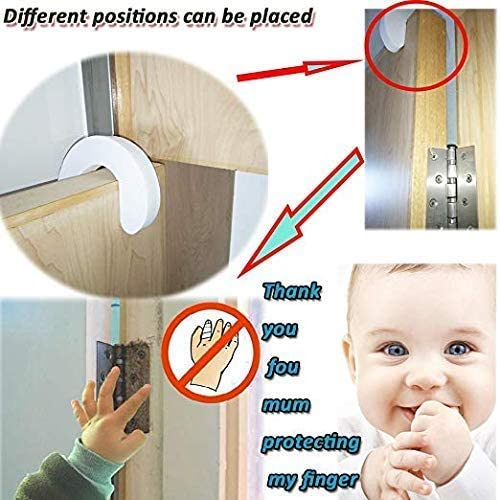[Upgrade] BYETOO (6 Pack) Finger Pinch Guard,Baby Proof Door Stopper,Protect Child Fingers with Soft Foam Guard,Prevent Finger Pinch Injuries,Slamming Door,Child or Pet from Getting Locked in Room