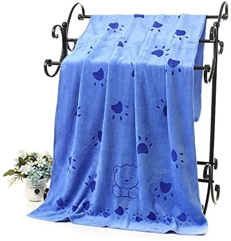 """Dog Towel, Legendog Microfiber Quick Drying Dog Bath Towel Dog Beach Towel Dog Absorbent Towel for Dog Cats -Suitable for Small and Medium Dogs-Blue 27.55''*55.11"""""""