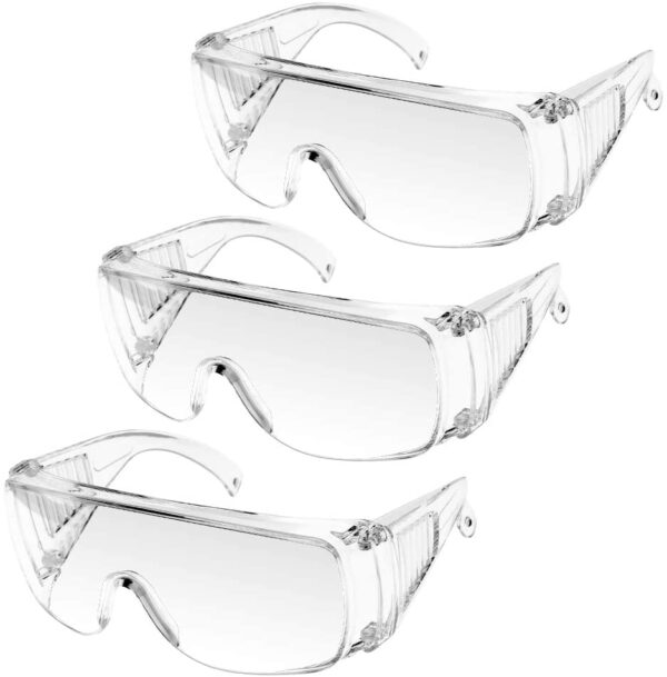 Protective Glasses Safety Goggles, UNTIRE Crystal Clear Lens Eye Protection Safety Glasses Anti-Fog Anti-Dust Scratch Resistant Eye Protection for Labs, and Workplaces, Home