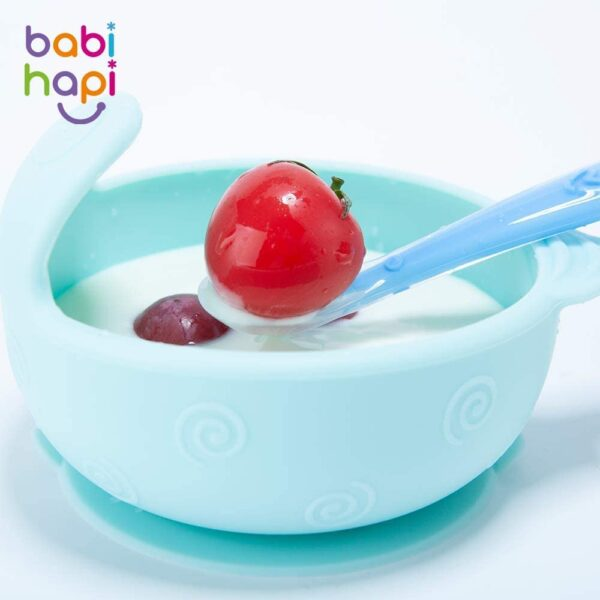 Baby Spoons Silicone Spoon for Baby weaning - BPA Free Baby Feeding and weaning Spoons for with Baby Spoon Set, Baby Food Pouches, Cutlery for Babies, Toddler and Kids. BPA Free 4 Pack