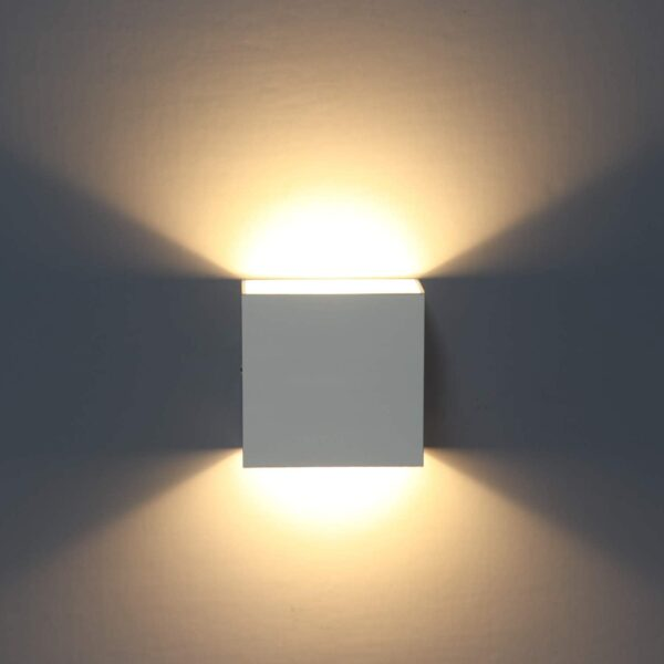 LED Wall Lights, 2Pcs Indoor Modern Wall Wash Lighting 6W LED Wall Sconce 3000K Up and Down Wall Lamp for Living Room, Bedroom, Hallway