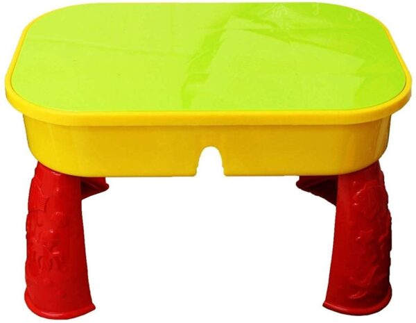 KandyToys Sand and Water Table with Lid and Accessories - Kids Outdoor Play Garden Sandpit