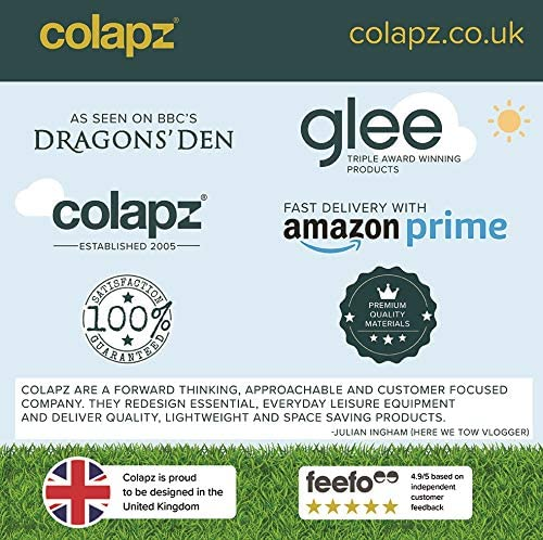 Colapz Portable Dog Water Bottle - Pet Food and Water Dispenser - Puppy and Dog Travel Accessories - Large 570ml Capacity - Grey