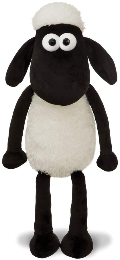 Shaun the Sheep 61174 Cuddly Plush Toy, Black and White, 12in, Suitable for Adults and Kids