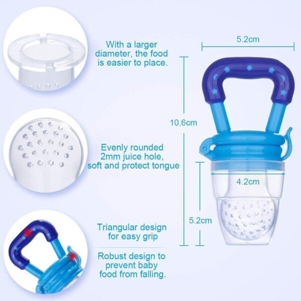 11 Pack Baby Food Feeder,Baby Fruit Feeder Pacifier, Safe BPA-Free Silicone Baby Pacifier Fresh Food Feeder, Fresh Food Feeder Set for Kids.