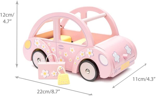 Le Toy Van - Wooden Daisylane Sophie's Car Accessories Play Set For Dolls Houses | Dolls House Furniture Sets - Suitable For Ages 3+
