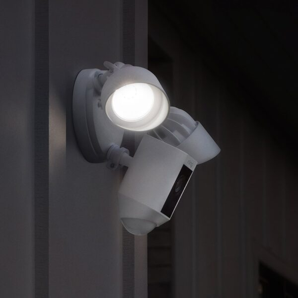 Ring Floodlight Cam | HD Security Camera with Built-in Floodlights, Two-Way Talk and Siren Alarm | With 30-day free trial of Ring Protect Plan