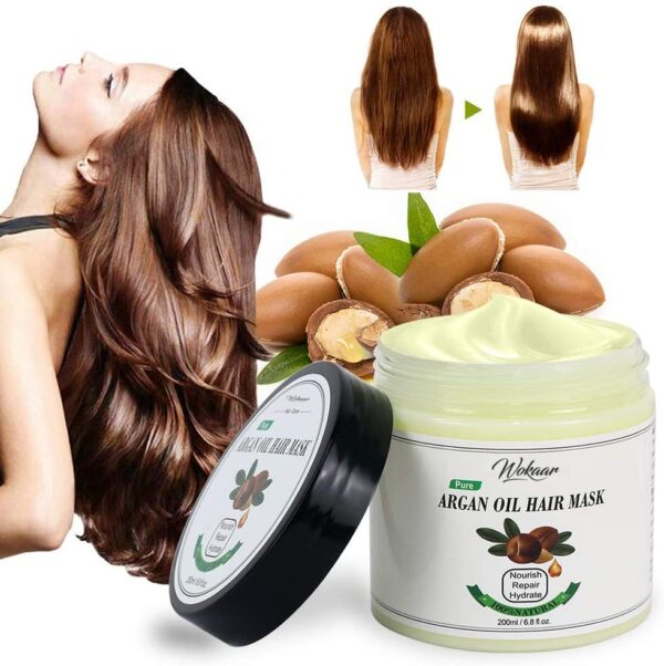 Argan Oil Hair Mask for Dry Hair Damaged Hair,Dry Hair Treatment Mask,Dry Hair Mask for Moisture,Soothing & Damaged,All Natural Ingredients Repair Hair Masque for Thin Dry Damaged Coloured Hair