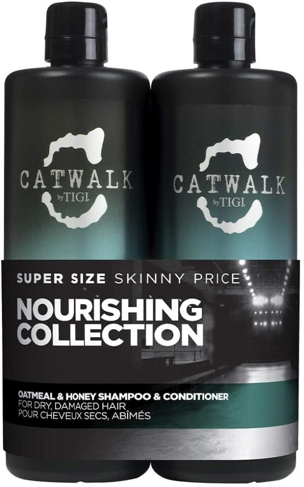 Catwalk by Tigi Oatmeal and Honey Repair Shampoo and Conditioner, 750 ml, Pack of 2