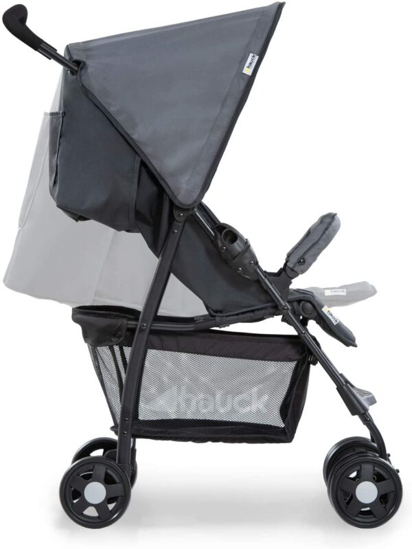 Hauck Sport, Pushchair from Birth to 15 kg with Lying Position, Easy and Compact Folding Sport Stroller, Bumper Bar, Shopping Basket, charcoal/stone