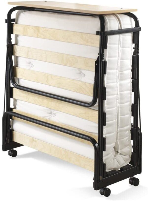 JAY-BE Chatsworth Single Folding Guest Bed with Pocket Sprung Mattress, Black