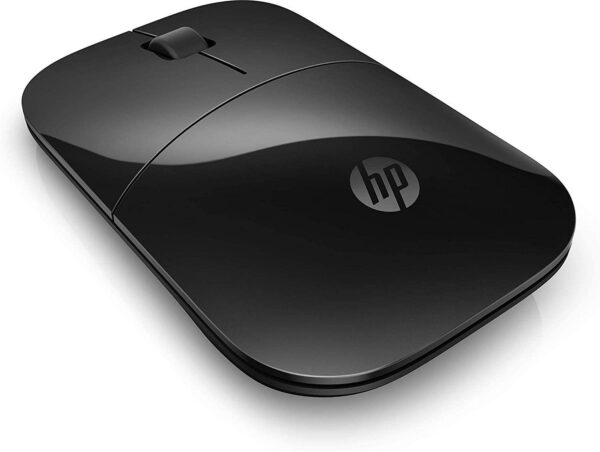 HP Z3700 Black 2.4 GHz USB Slim Wireless Mouse with Blue LED 1200 DPI Optical Sensor, Up to 16 Months Battery Life