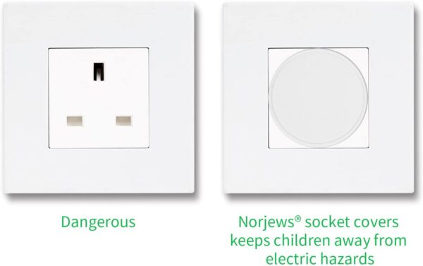 Norjews Baby Home Safety Socket Covers Child Proof Plug Socket Protectors/Guards (20 Packs)