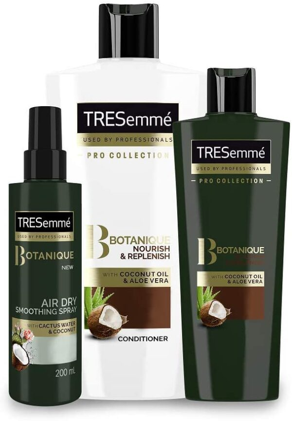 TRESemme Botanique Shampoo and Conditioner Sets with Air Dry Spray, Hair Care Kit Bundle