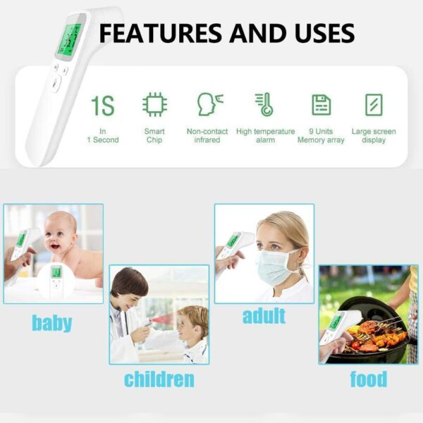 2020 NEW LCD Digital Non-contact Ir Infrared_thermometer, Forehead_gun, Household Body_temperature_tool for Baby Adults Kids,for Home School Safety Check,Safety Helper