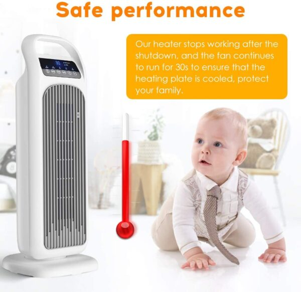 Electric Heater Fan 2000W PTC Ceramic Portable Heater,Timer,Remote Control,3 Mode,Thermostat,Overheat Protection, LED Display,Safety Cut-Off for Home/Office