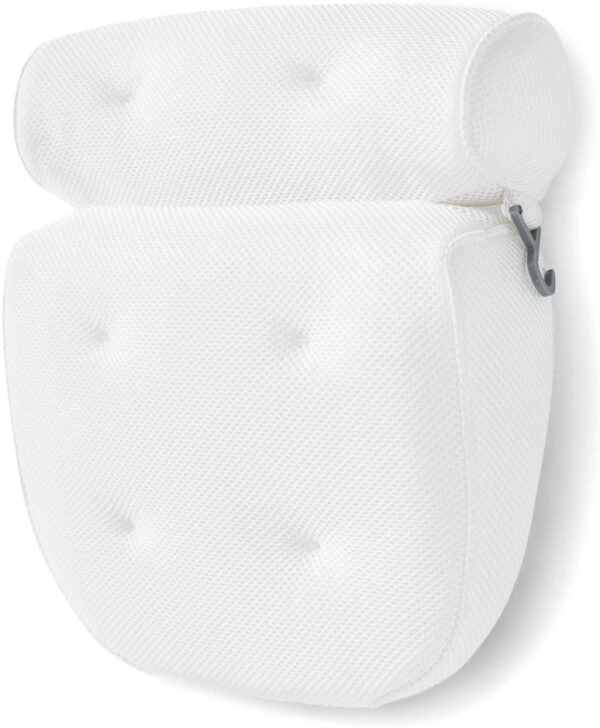 Idle Hippo Ergonomic Bath Pillow Bathtub Spa Pillow, Non-slip 6 Large Suction Cups for Perfect Head, Neck, Back and Shoulder Support