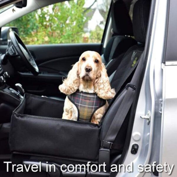 Dog Car Seat with Safety Harness Seat Belt - Pet Puppy Waterproof Travel Dog Car Seat Protector Cover Car Accessories