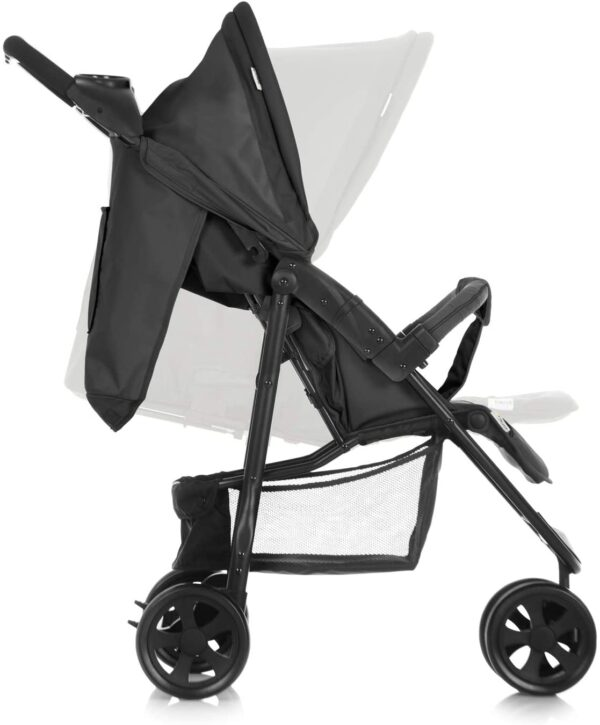Hauck Citi Neo II 3 Wheel Pushchair up to 25 kg with Lying Position from Birth, Compact Folding, Lightweight Only 7.5 kg, with Cup Holder - Black Grey