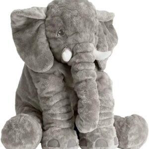 Baboies Plush Giant Elephant Pillow Stuffed Animal Toy Elephant Teddy Gift (Gery, 40cm)