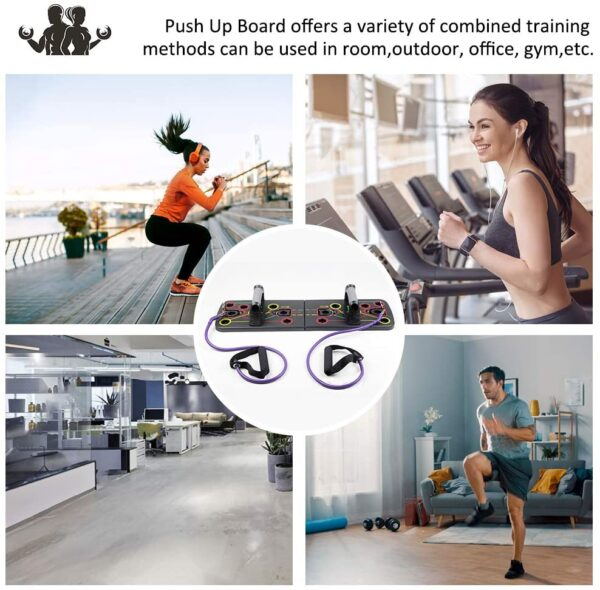 BAISIQI Push Up Board, 13 in 1 Home Fitness Equipment Muscle Board, Multifunction Gym Press Up Board, Body Building Exercise Tools for Men and Women