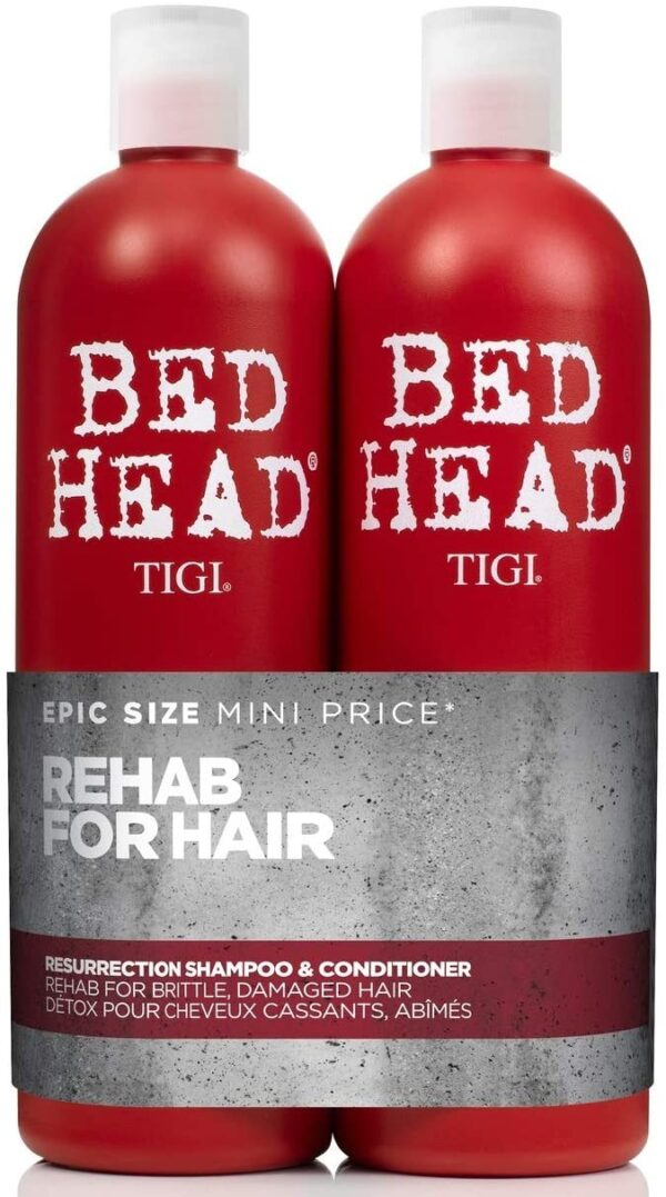 Bed Head by Tigi Urban Antidotes Resurrection Shampoo and Conditioner for Damaged Hair, 2 x 750 ml