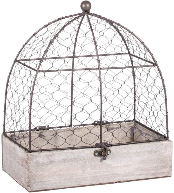 Rayher 46347000 Decorative Aviary, Vintage Bird Cage for Wedding, Crafts and Home Decoration, 25x14x29cm