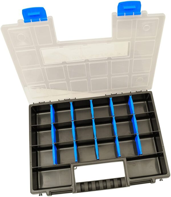 2X XL Organizer Assortment Box 345x249x50mm I Small Parts Magazine I Screw Box I Tool Box I Assortment Boxes