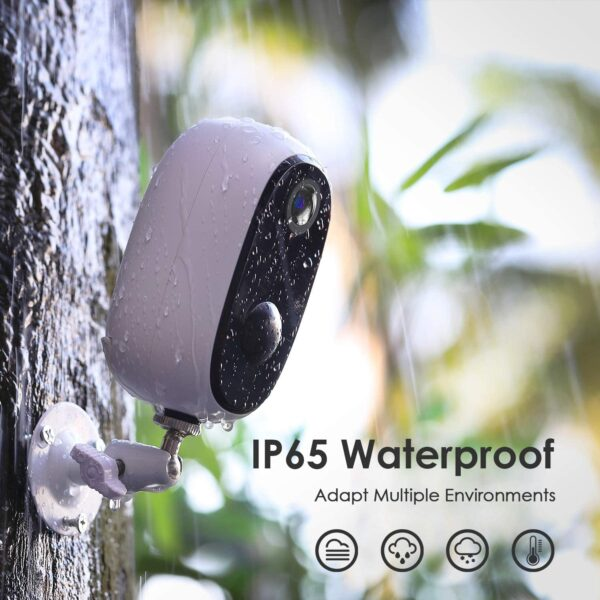 Outdoor Wireless Security Camera with Upgraded Rechargeable 10000mAh Battery, 1080P 2.4G Wi-Fi Surveillance CCTV Camera with Waterproof, Human Motion Detection, Night Vision,2-Way Audio, Cloud&SD