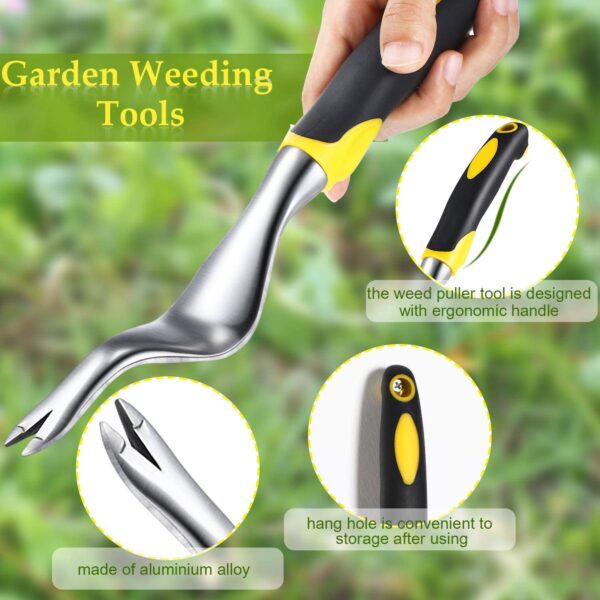 Hand Weeder Dandelion Remover Tool,Manual Weed Puller Bend-Proof Weed Puller Digger Fast and Labor-Saving Puller Weeding Tools For Garden Lawn Yard