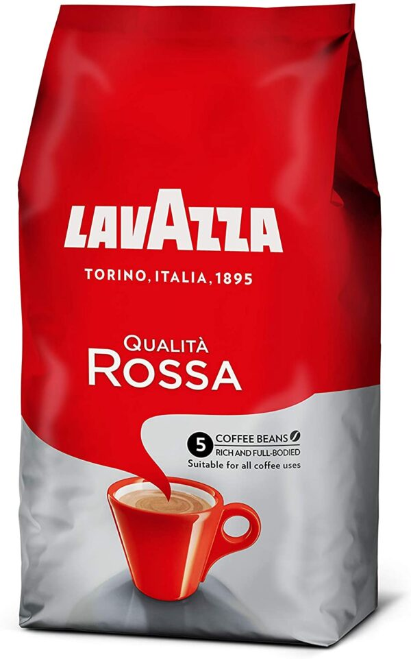Lavazza Qualita Rossa Coffee Beans, 1 kg (Pack of 1)
