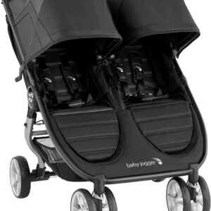 Baby Jogger City Mini 2 Double Pushchair   Lightweight, Foldable & Compact Double Stroller   Jet (Black)