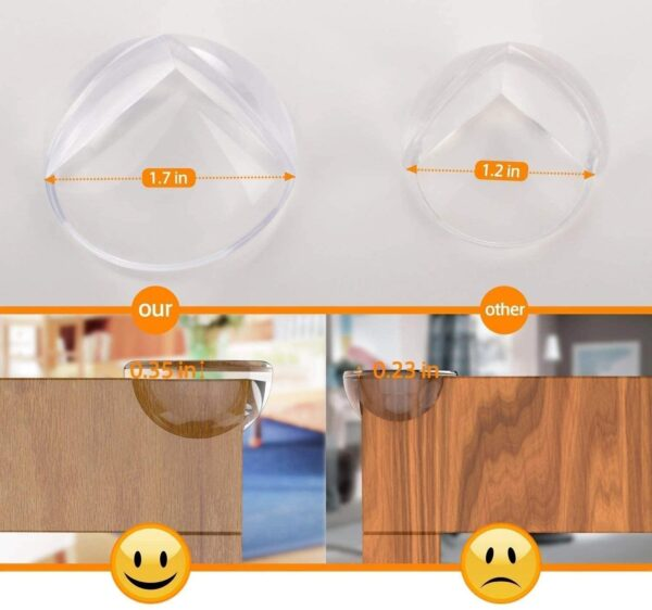 Corner Protectors for Kids (12pcs-Large), E-PROUSE Clear Table Furniture Corner Protectors Guards for Baby Child with 42pcs Advanced Custom Made Adhesive Tape