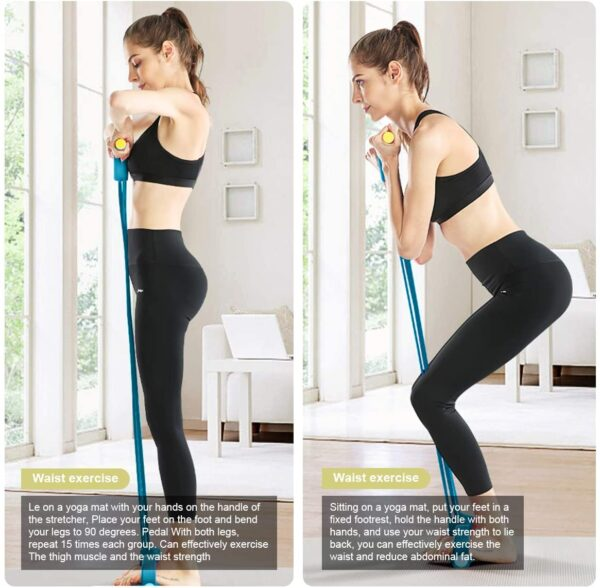 Chesbung Resistance Bands with Handles Home Fitness Equipment Pilates Resistance BandsPedal for Sit-ups Fitness Exercises Flexible for Arm, Tummy, Leg