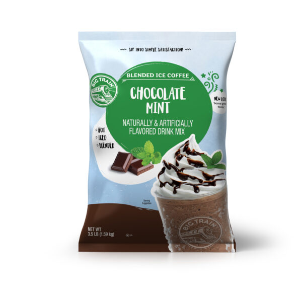Big Train Chocolate Mint Blended Ice Coffee Beverage Mix, 3.5 lb