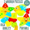 Jaques of London Let's Play Animal Puzzles Under the Sea Theme – Perfect Childrens Puzzles and Montessori Toys for 2 3 4 year old boy and toys for 2 3 4 year old girls Since 1795