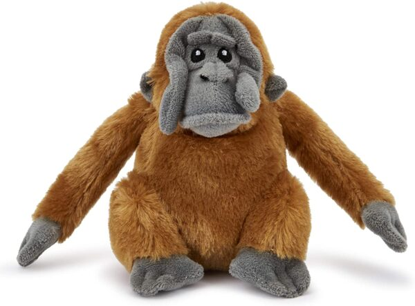 Zappi Co Childrens Stuffed Soft Cuddly Toy Safari Jungle Animal Plush (Small, 5-6 Inches, 12-15CM Orangutan)