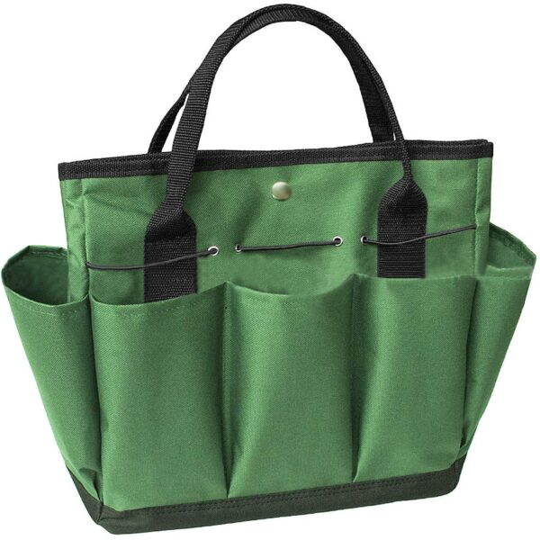 JINTN Portable Garden Tool Bag Oxford Plant Tool Kit Storage Bag with Handles Essential Gardening Tools Organizer Tote Multiple Pockets Indoor Out Door Lawn Yard Bag Carrier Gardener Carry Bag