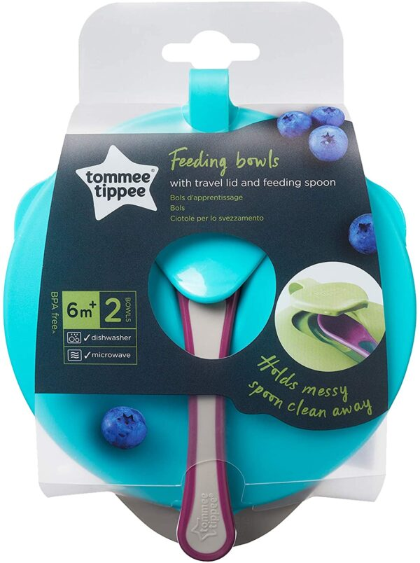 Tommee Tippee Explora Easy Scoop Feeding Bowl Lid and Spoon (Colours May Vary)