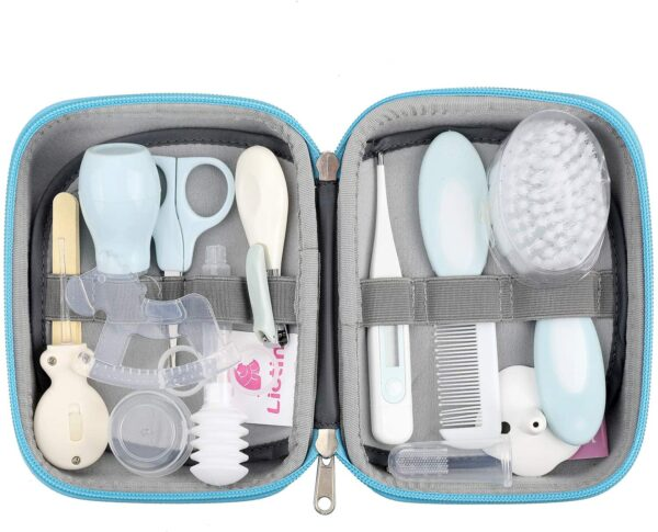 Lictin Baby Health Care Kit - Baby Grooming Kit Newborn Baby Care Accessories, 15PCS Safety Cutter Nail Care Set, Nursery Baby Care Kit for Infants Newborns (Blue)