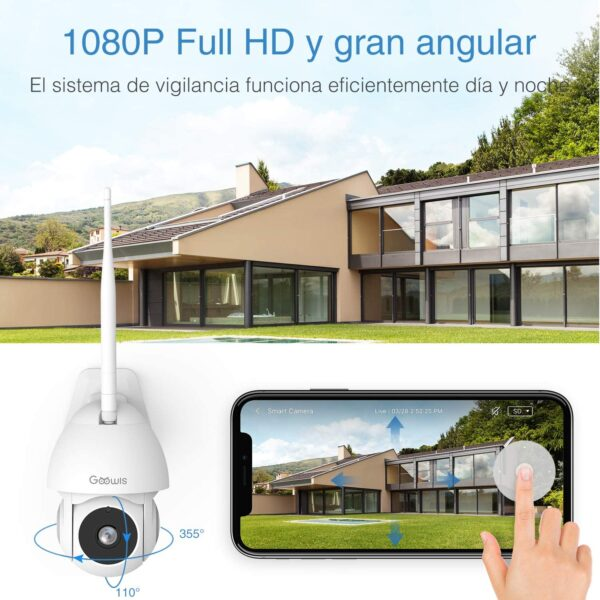 Security Camera Outdoor, Goowls CCTV Camera 1080P HD 2.4G WiFi Home Security with Pan/Tilt Waterproof Camera Smart IP Camera Night Vision 2-Way Audio Motion Detection Cloud Service Woks with Alexa