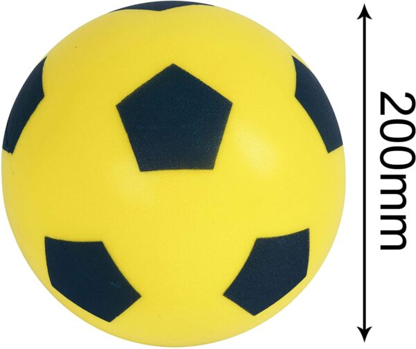 HTI Toys & Games Fun Sport Size 5 Yellow Football | Indoor/Outdoor Soft Sponge Foam Soccer Ball Great Fun For Adults And Kids Boys & Girls