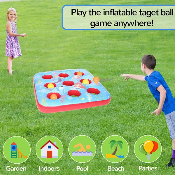 Kreative Kraft Target Ball Inflatable Game for Children Party Outdoor Summer Games for Boy Girl 3 in a Row Inflatables Garden Toy