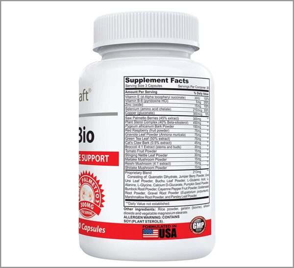 ProstaBio #1 Prostate Support Supplement - 33 Ingredient Formula to Support Prostate Health and Urine Flow - Saw Palmetto, Beta-Sitosterol, Pumpkin Seed, Nettle, Pygeum Plus Vitamins - 90 Capsules