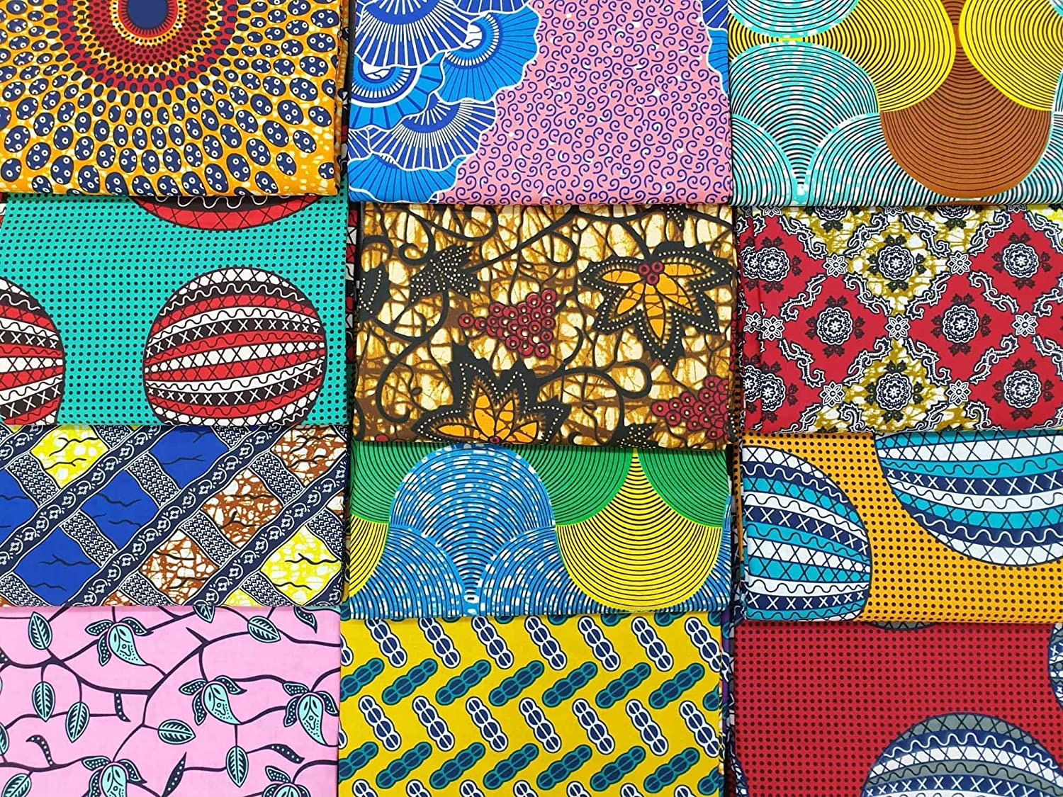 Quilting Art and Craft Patchwork Mask Making 22 x 17.5 Size: 56cm x 45cm or 6 Random African Fashion Inspired Style Fabric Fat Quarters//Samples 6 Pieces Cotton Ankara Material for Sewing