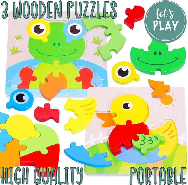 Jaques of London Let's Play Animal Puzzles – Perfect Childrens Puzzles and Montessori Toys for 2 3 4 year old boy and toys for 2 3 4 year old girls Since 1795