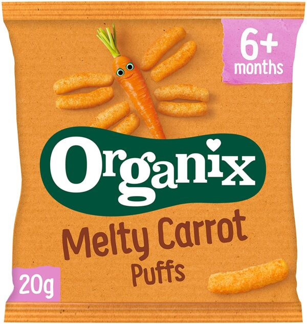 Organix Melty Carrot Sticks 20 g (Pack of 8) (organic)