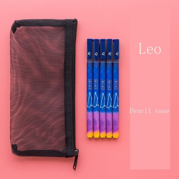 1pc/lot Constellation Gel Pen Novelty 0.5mm Starry Black Ink Pen for Girl Gift Student Stationery School Writing Office Supplies