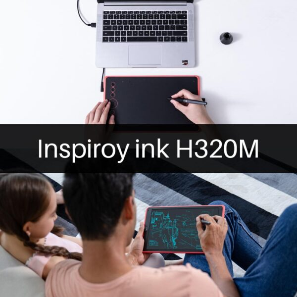 Huion H320M Graphic Drawing Tablet and LCD Digital Writing Board Tablet HadWriting Pad with Battery-free Stylus for Android/PC